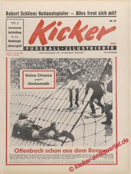 Kicker Nr. 21, 23.5.1955 bis 29.5.1955