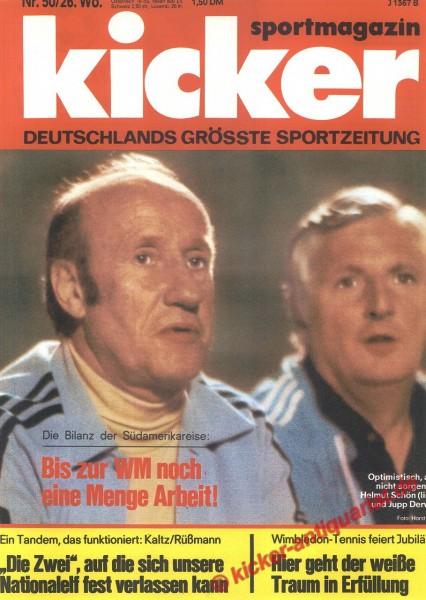 Kicker Sportmagazin Nr. 50, 20.6.1977 bis 26.6.1977
