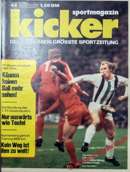 Kicker Sportmagazin Nr. 42, 20.5.1974 bis 26.5.1974