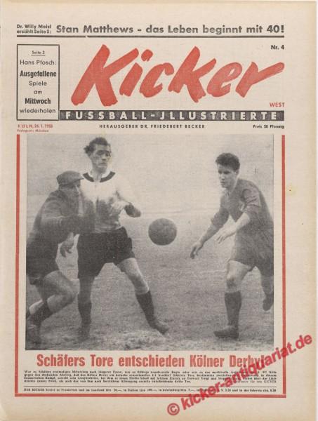 Kicker Nr. 4, 24.1.1955 bis 30.1.1955