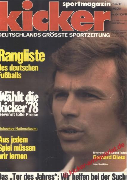 Kicker Sportmagazin Nr. 104, 27.12.1978 bis 2.1.1979