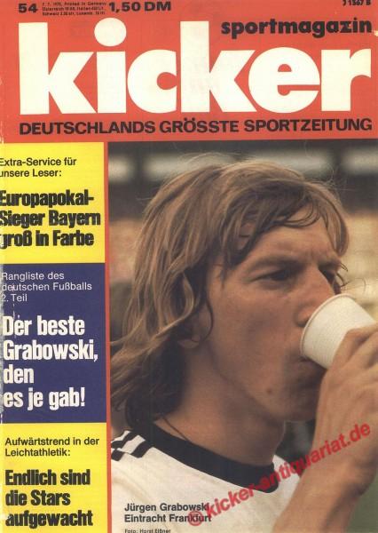 Kicker Sportmagazin Nr. 54, 7.7.1975 bis 13.7.1975