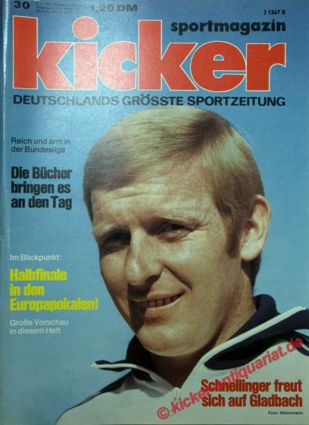 Kicker Sportmagazin Nr. 30, 8.4.1974 bis 14.4.1974