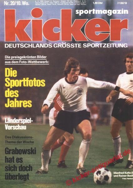 Kicker Sportmagazin Nr. 20, 6.3.1978 bis 12.3.1978