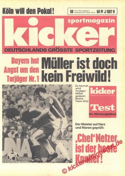 Kicker Sportmagazin Nr. 69, 27.8.1970 bis 2.9.1970