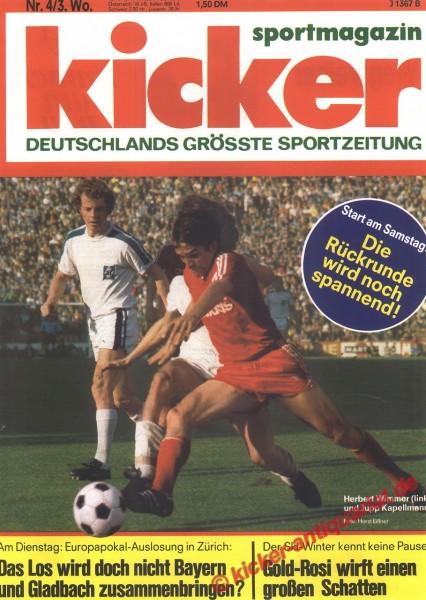 Kicker Sportmagazin Nr. 4, 10.1.1977 bis 16.1.1977