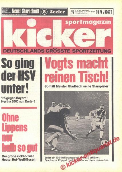Kicker Sportmagazin Nr. 77, 24.9.1970 bis 30.9.1970