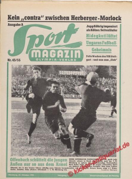 Sportmagazin Nr. 43A, 24.10.1955 bis 30.10.1955