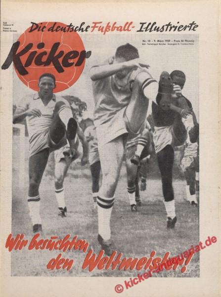 Kicker Nr. 10, 9.3.1959 bis 15.3.1959