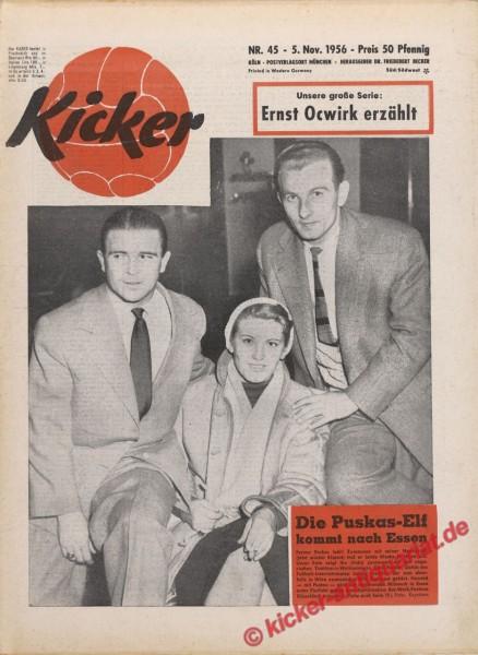 Kicker Nr. 45, 5.11.1956 bis 11.11.1956