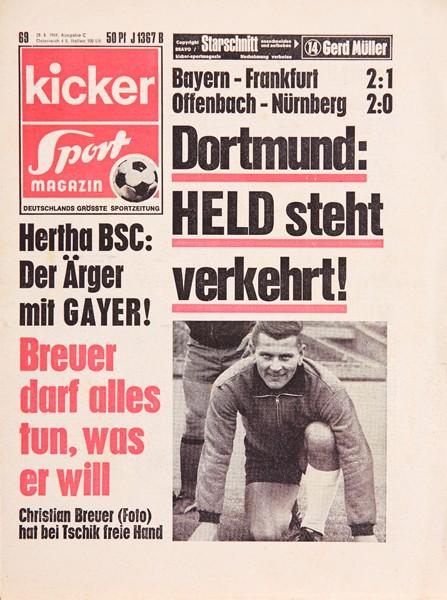 Kicker Sportmagazin Nr. 69, 28.8.1969 bis 3.9.1969