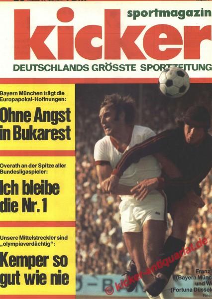 Kicker Sportmagazin Nr. 20, 6.3.1972 bis 12.3.1972