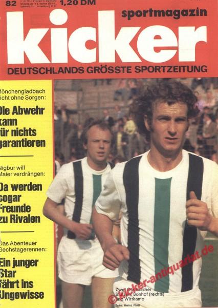 Kicker Sportmagazin Nr. 82, 7.10.1974 bis 13.10.1974