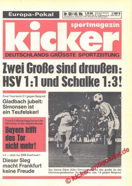 Kicker Sportmagazin Nr. 89, 3.11.1977 bis 9.11.1977