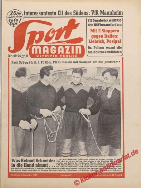Sportmagazin Nr. 49B, 8.12.1955 bis 14.12.1955