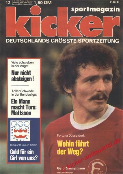 Kicker Sportmagazin Nr. 12, 9.2.1976 bis 15.2.1976