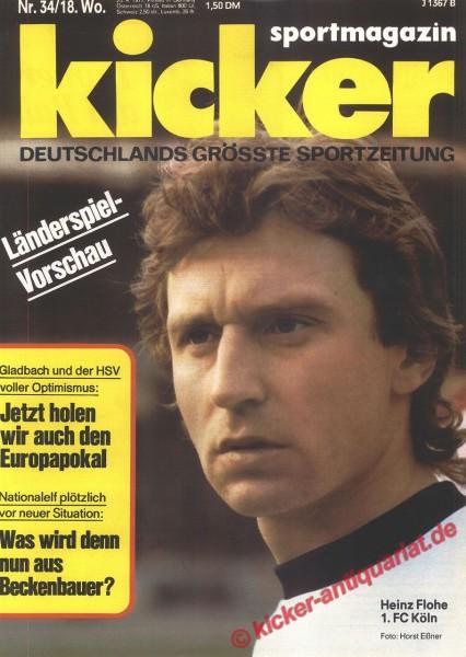 Kicker Sportmagazin Nr. 34, 25.4.1977 bis 1.5.1977