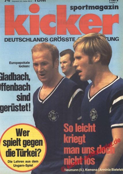 Kicker Sportmagazin Nr. 74, 14.9.1970 bis 20.9.1970
