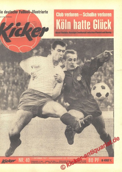 Kicker Nr. 40, 7.10.1963 bis 13.10.1963