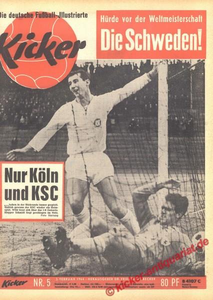 Kicker Nr. 5, 3.2.1964 bis 9.2.1964