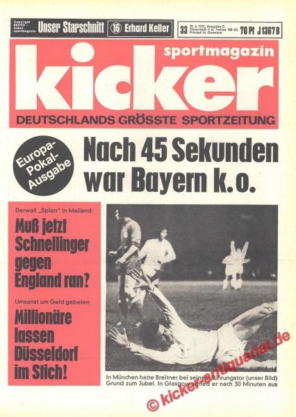 Kicker Sportmagazin Nr. 33, 20.4.1972 bis 26.4.1972