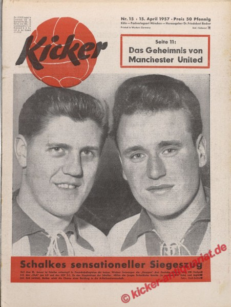 Kicker Nr. 15, 15.4.1957 bis 21.4.1957