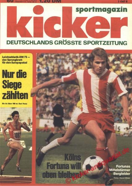 Kicker Sportmagazin Nr. 60, 23.7.1973 bis 29.7.1973