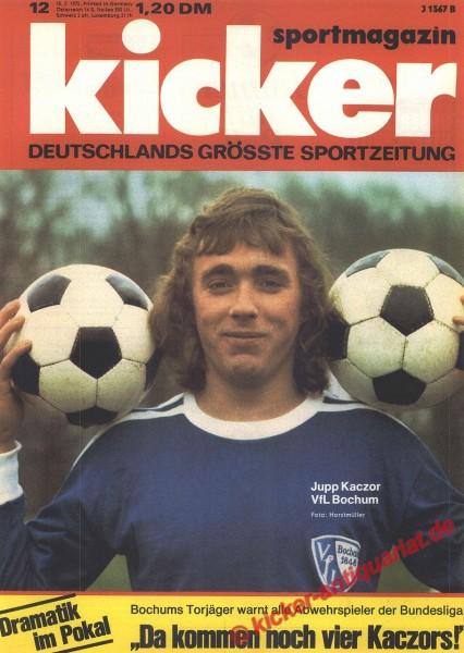 Kicker Sportmagazin Nr. 12, 10.2.1975 bis 16.2.1975
