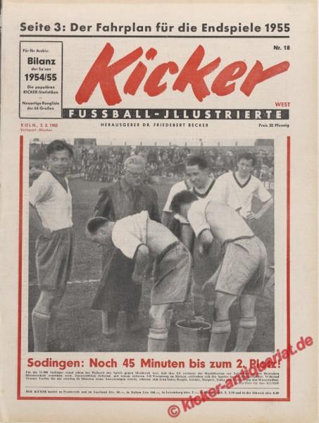 Kicker Nr. 18, 2.5.1955 bis 8.5.1955