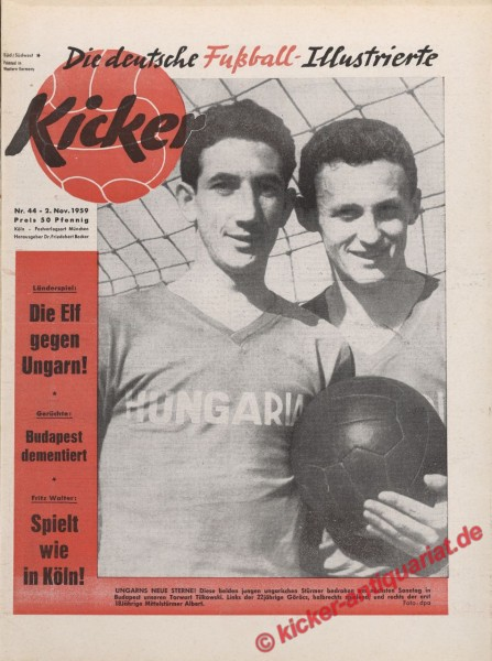 Kicker Nr. 44, 2.11.1959 bis 8.11.1959