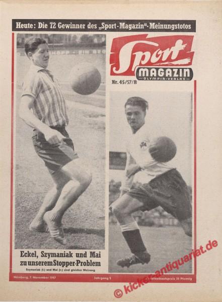 Sportmagazin Nr. 45B, 7.11.1957 bis 13.11.1957