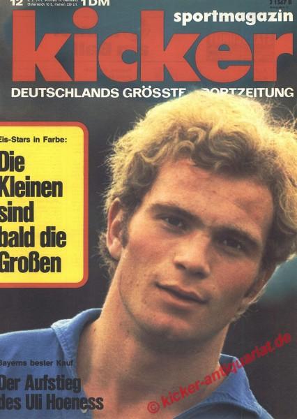 Kicker Sportmagazin Nr. 12, 8.2.1971 bis 14.2.1971