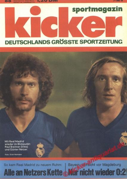 Kicker Sportmagazin Nr. 88, 28.10.1974 bis 3.11.1974