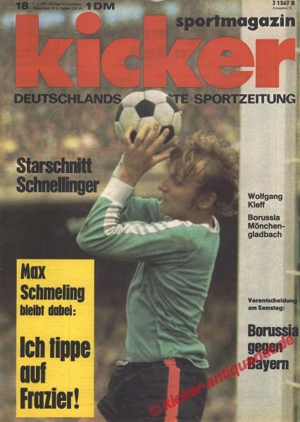 Kicker Sportmagazin Nr. 18, 1.3.1971 bis 7.3.1971