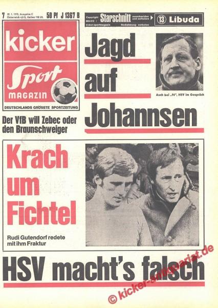 Kicker Sportmagazin Nr. 7, 22.1.1970 bis 28.1.1970