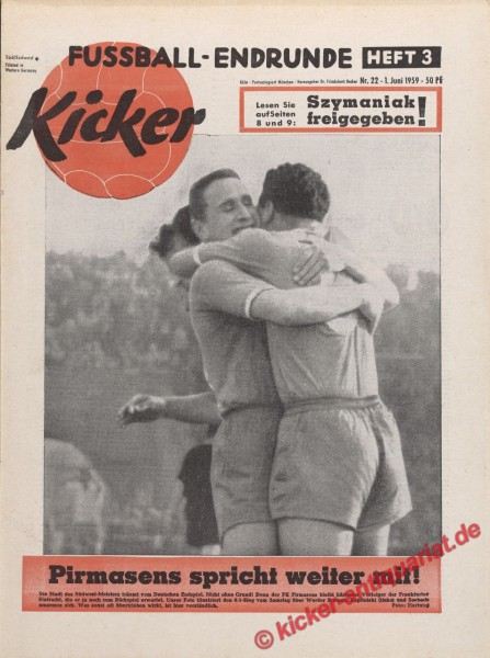 Kicker Nr. 22, 1.6.1959 bis 7.6.1959