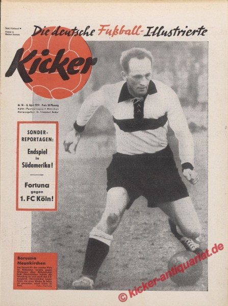Kicker Nr. 14, 6.4.1959 bis 12.4.1959