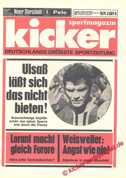 Kicker Sportmagazin Nr. 57, 15.7.1971 bis 21.7.1971