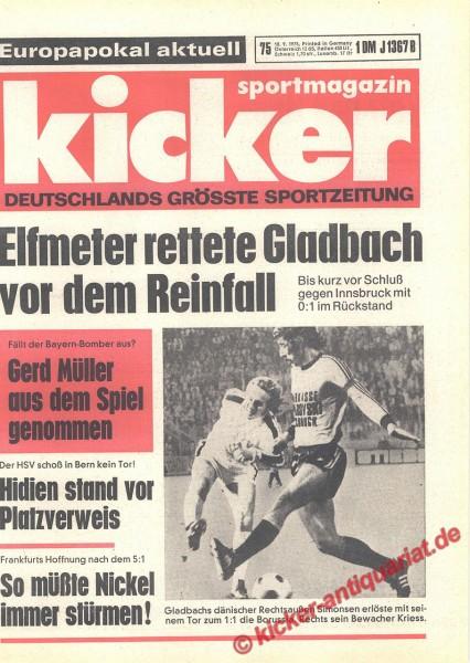 Kicker Sportmagazin Nr. 75, 18.9.1975 bis 24.9.1975