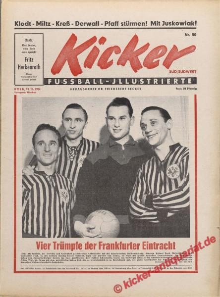 Kicker Nr. 50, 13.12.1954 bis 19.12.1954