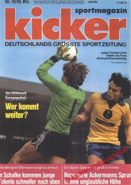 Kicker Sportmagazin Nr. 78, 26.9.1977 bis 2.10.1977