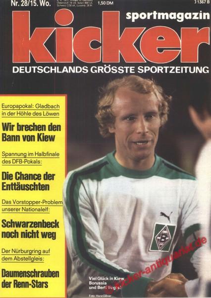 Kicker Sportmagazin Nr. 28, 4.4.1977 bis 10.4.1977