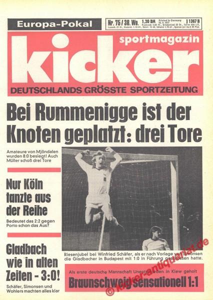 Kicker Sportmagazin Nr. 75, 15.9.1977 bis 21.9.1977
