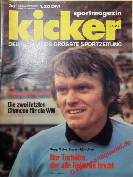 Kicker Sportmagazin Nr. 36, 29.4.1974 bis 5.5.1974