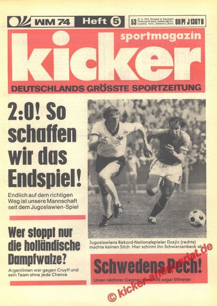 Kicker Sportmagazin Nr. 53, 27.6.1974 bis 3.7.1974