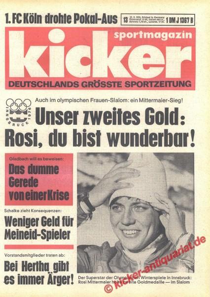 Kicker Sportmagazin Nr. 13, 12.2.1976 bis 18.2.1976