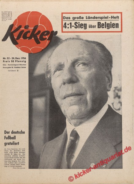 Kicker Nr. 52, 24.12.1956 bis 30.12.1956