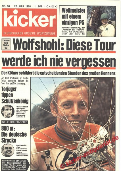 Kicker Sportmagazin Nr. 30, 22.7.1968 bis 28.7.1968