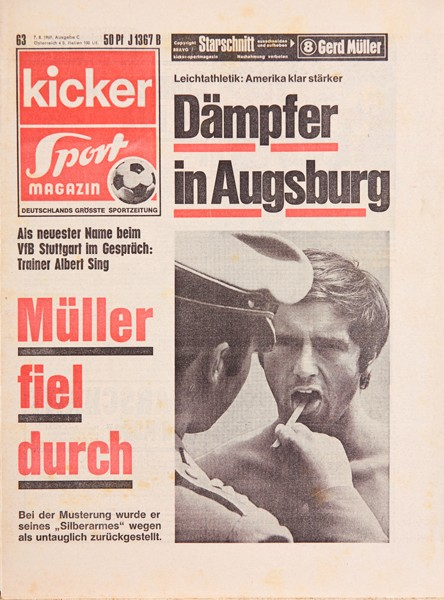 Kicker Sportmagazin Nr. 63, 7.8.1969 bis 13.8.1969