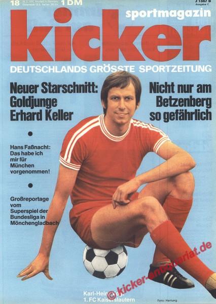 Kicker Sportmagazin Nr. 18, 28.2.1972 bis 5.3.1972
